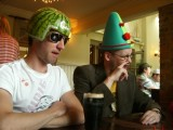 Leon's Hat Party: An afternoon in a pub in Canterbury, wearing an assortment of silly hats, in honour of Leon's 30th birthday.