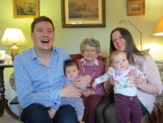 South Wales November 2012: We took Erika to Abergavenny to meet Vera, Robin, Ian, Louise, Bec, Dave and baby Jessica.
