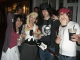 Stew's Birthday: A fancy dress party down in Canterbury for Stew's birthday, the theme being rock/pop stars.