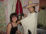 Lounge Bar and Mexican Costume: [Saturday 27th October 2001] An unusual set of pictures involving a makeshift cocktail lounge and a Mexican costume.