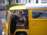 Moving: Me moving out of my flat in Hampstead, with a little help from Rob and his famous yellow van.