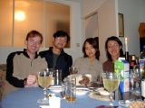 New Year's Eve: [Wednesday 31st December 2003] A very civilised new year's eve, dinner with a few friends in out flat.