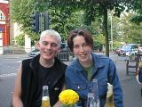 Russ and Jill in Hampstead: [Thursday 15th June 2000] Russ and Jill come to visit me in Hampstead, and generally piss about a lot.