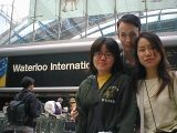 Waterloo: Me and Rob seeing off Chie and Kanako at Waterloo International.
