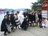 Our Wedding in Japan: [Friday 8th December 2006] Pictures from our wedding, starting with a ceremony at Miyajima's Itsukushima Shrine, followed by a reception on a cruise ship, and then a final party in the centre of Hiroshima.